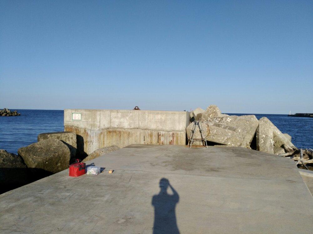 埠頭の先端