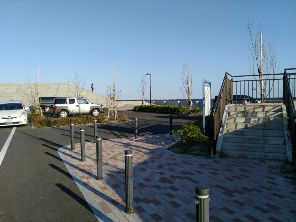荒浜漁港公園 駐車場