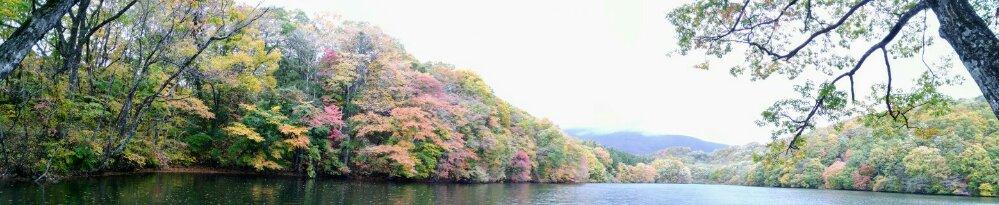 長老湖 パノラマ写真