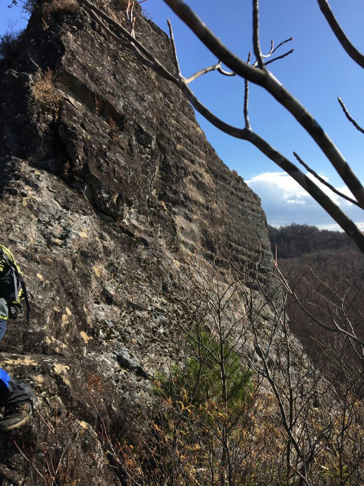 オボコンベ山の奇岩