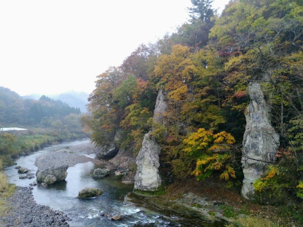 秋保 羽山橋の紅葉