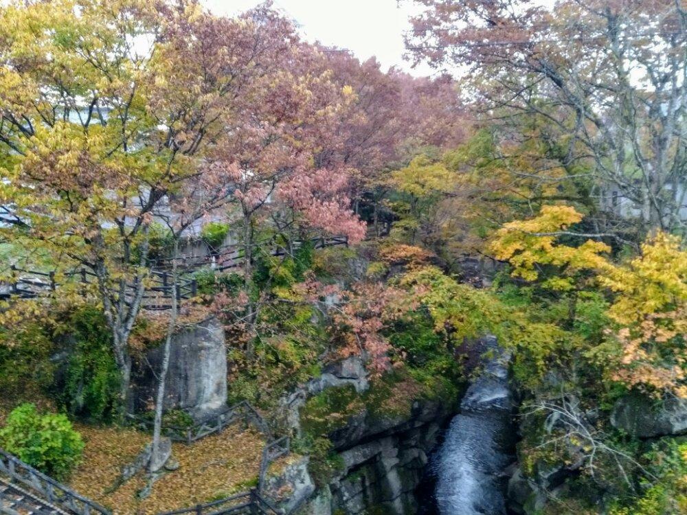 秋保 磊々峡の紅葉