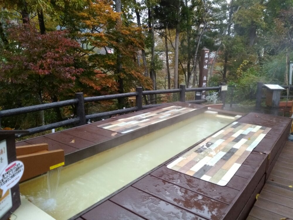 秋保差とセンターの足湯