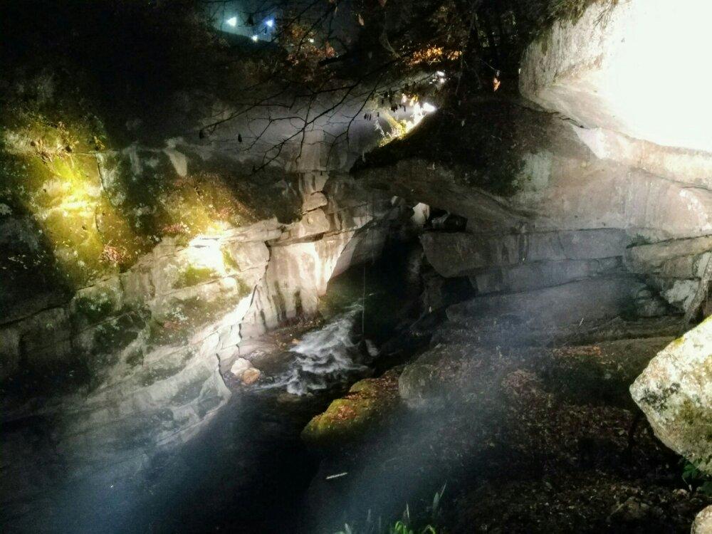 磊々峡のライトアップ