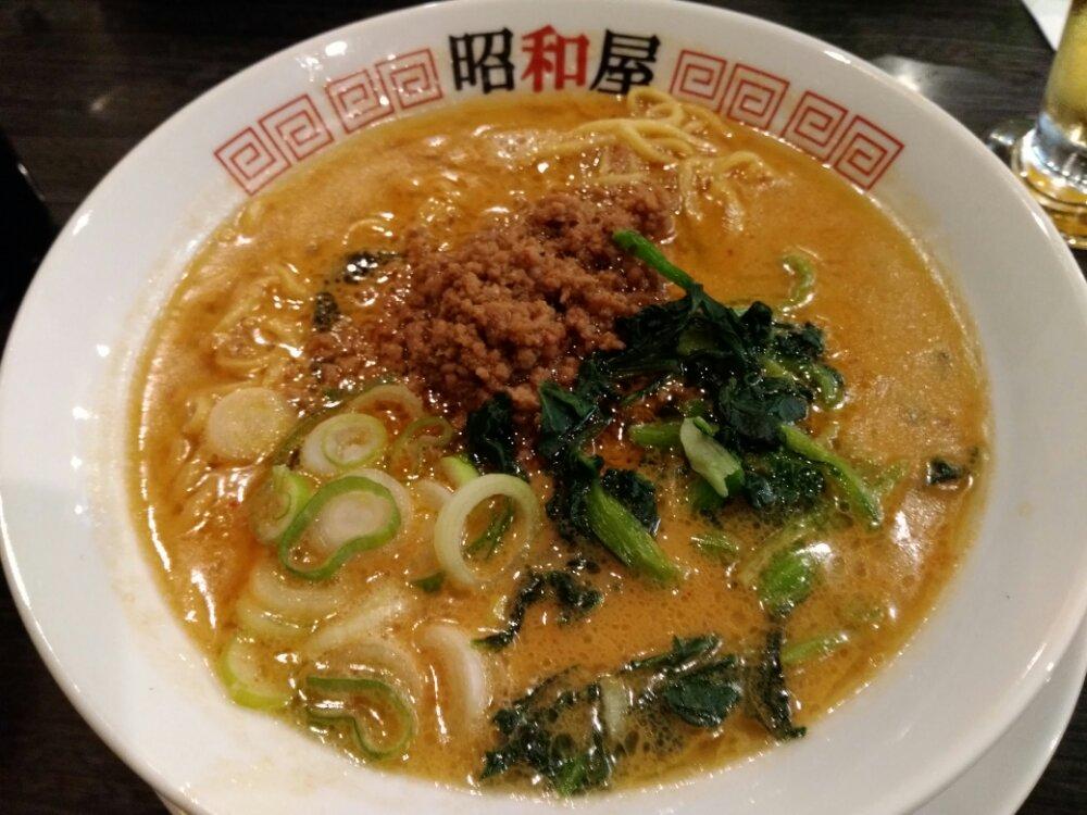 らーめん昭和屋名取店の担々麺