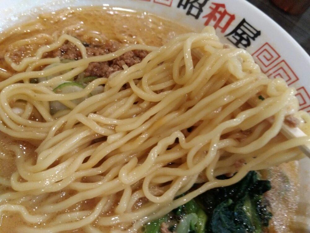 らーめん昭和屋名取店 細麺