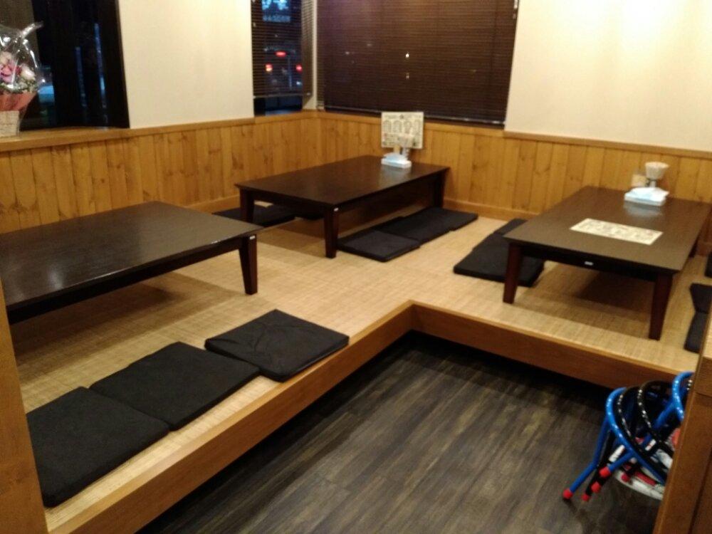 昭和屋名取店 座敷席