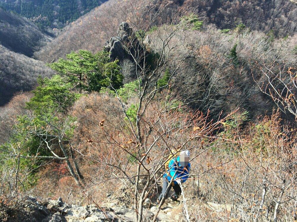 オボコンベ山頂上手前の難所