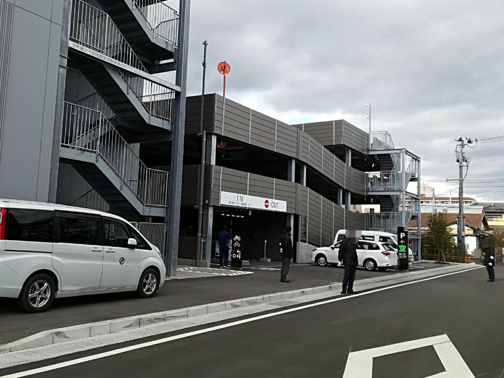 名取市図書館の立体駐車場