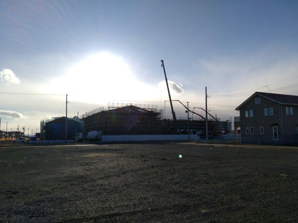 建設中の閖上公民館