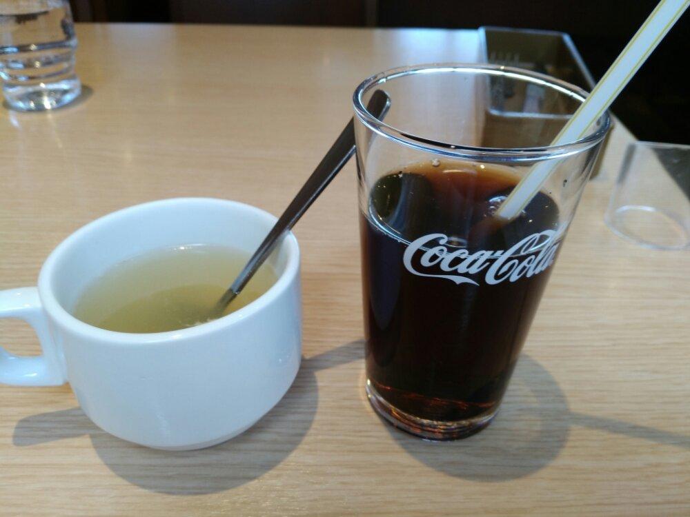 コーラとスープ