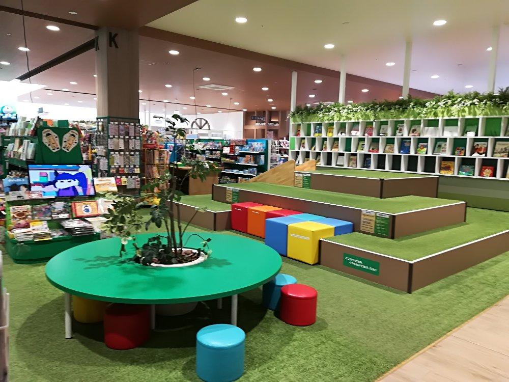 蔦屋書店アクロスプラザ富沢西店のキッズエリア