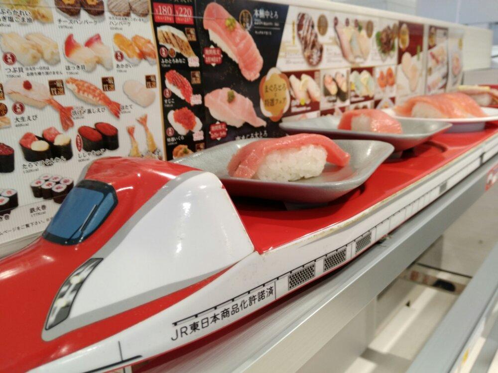魚べいの高速3段レーン