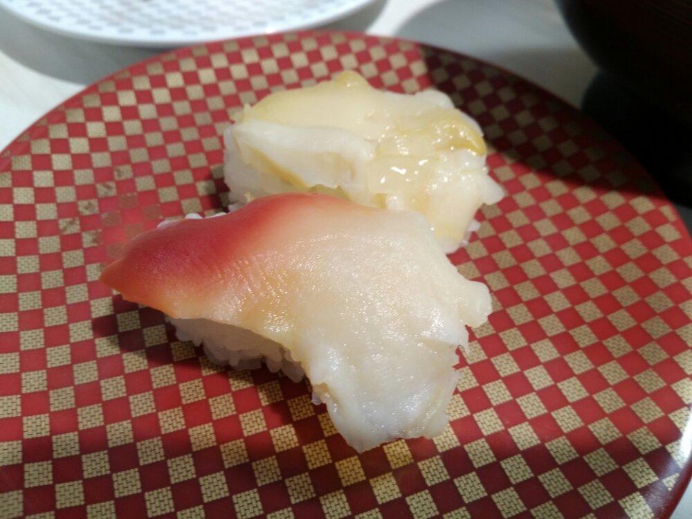 魚べいのつぶ貝・ほっき貝