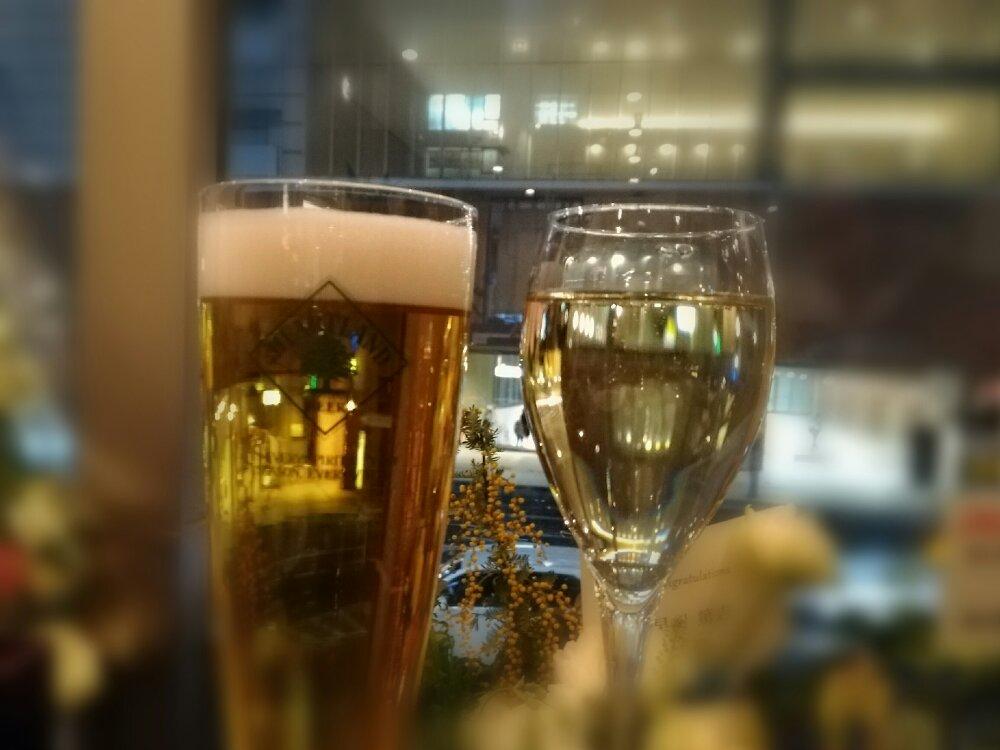ビールとスパークリング