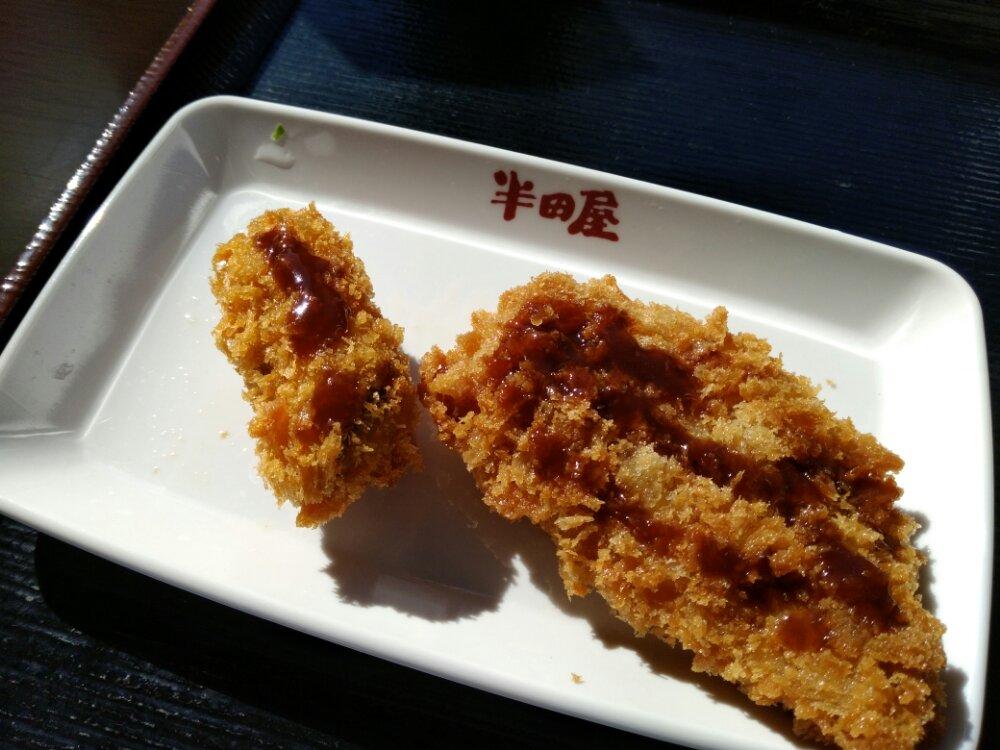 牡蠣フライとハムロールフライ