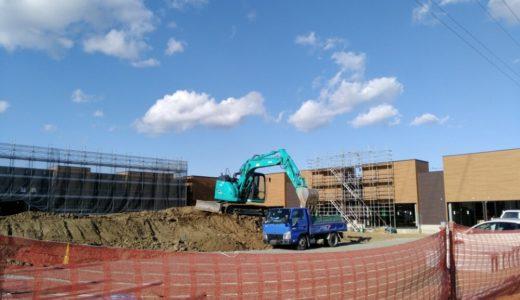 フレスポ富沢西|新たな商業施設がオープン予定!外観が見えてきました。(仙台市)