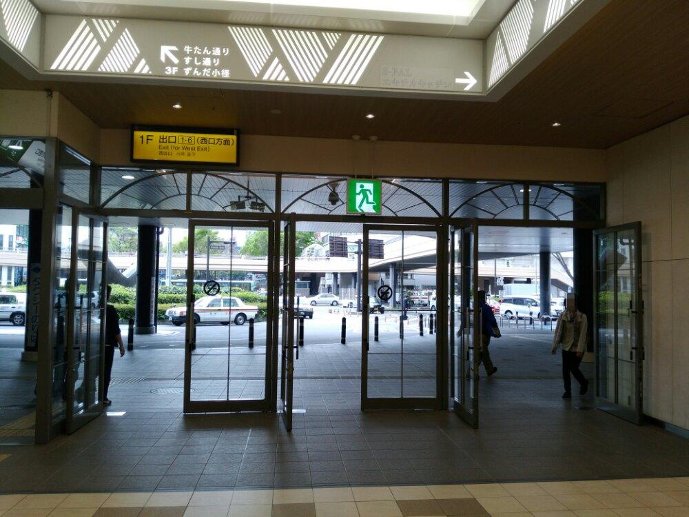 仙台駅の出口1-6