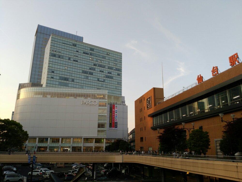 パルコと仙台駅