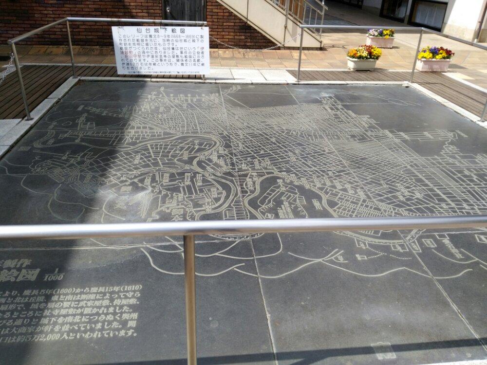 仙台城下絵図