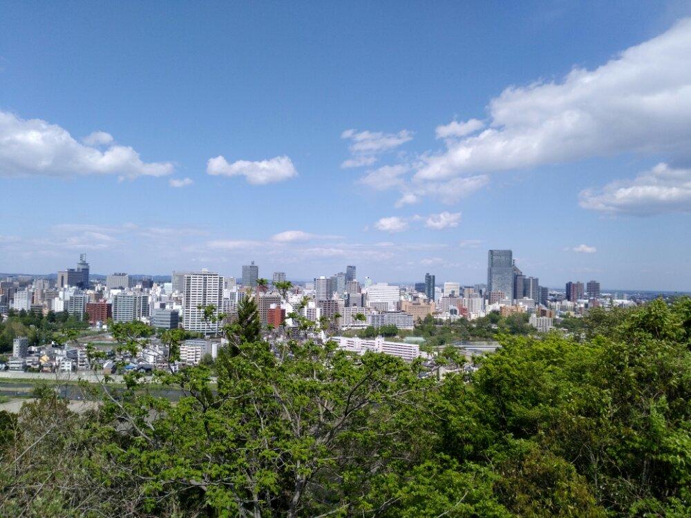 仙台城からの景色
