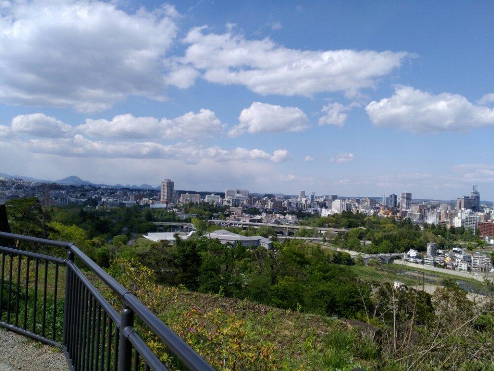 青葉城址からの景色