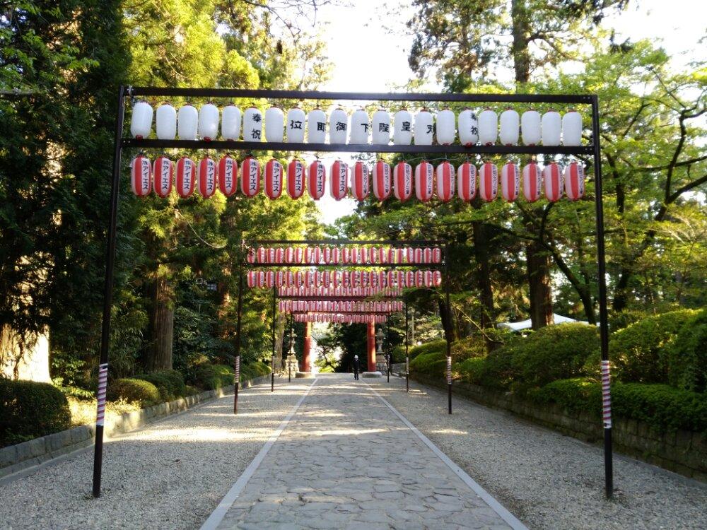大崎八幡宮の表参道
