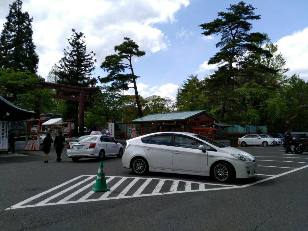 仙台城の駐車場