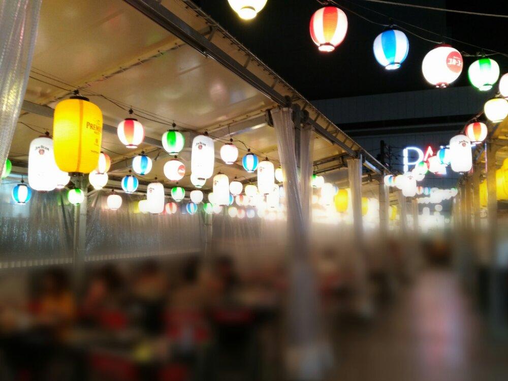 仙台朝市直結 東四ビアガーデンの雰囲気