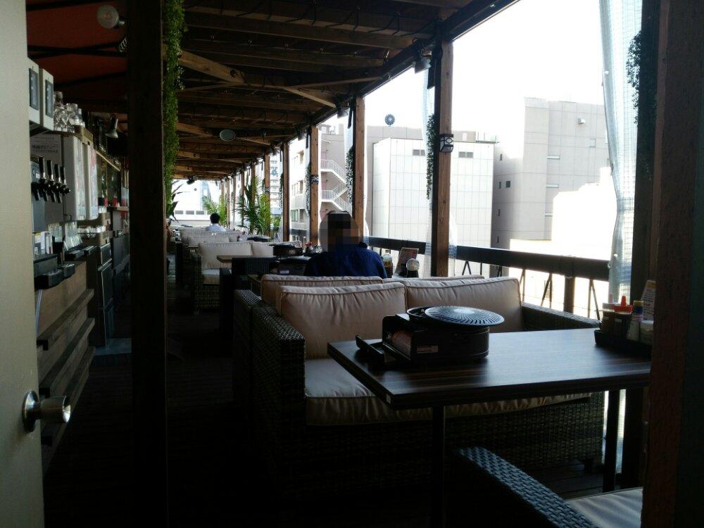 国分町のステーキ食べ放題トップテラスビアガーデン会場