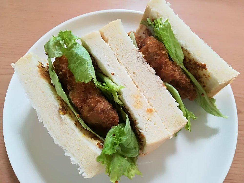 プレーンをサンドイッチに