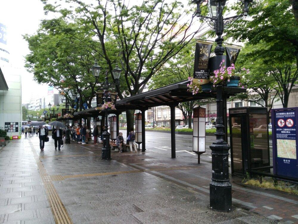 仙台駅前のバス停20-25