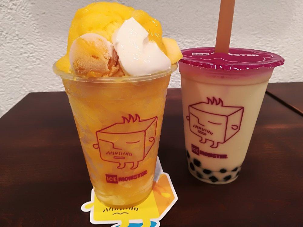 ICE MONSTER仙台のマンゴーかき氷と鉄観音タピオカミルクティー