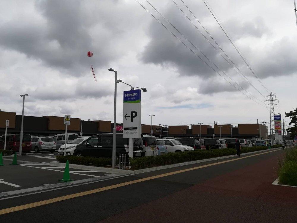 フレスポ富沢の駐車場