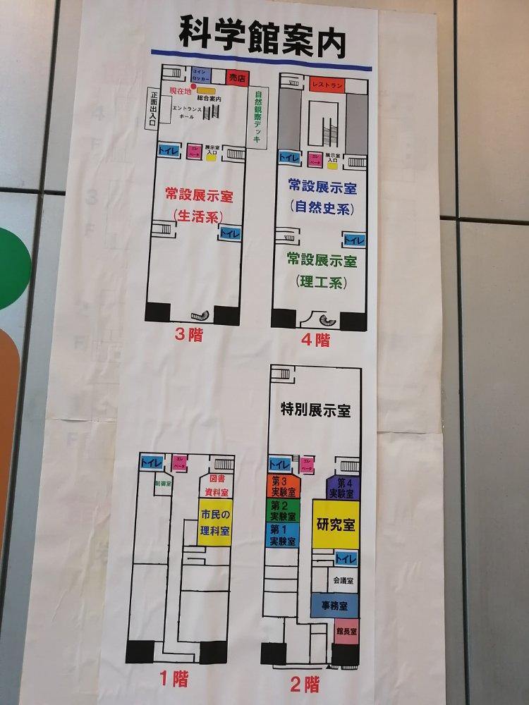 仙台市科学館の全体マップ