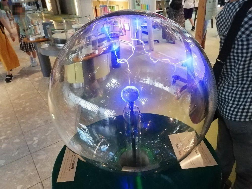 仙台市科学館のプラズマ放電球