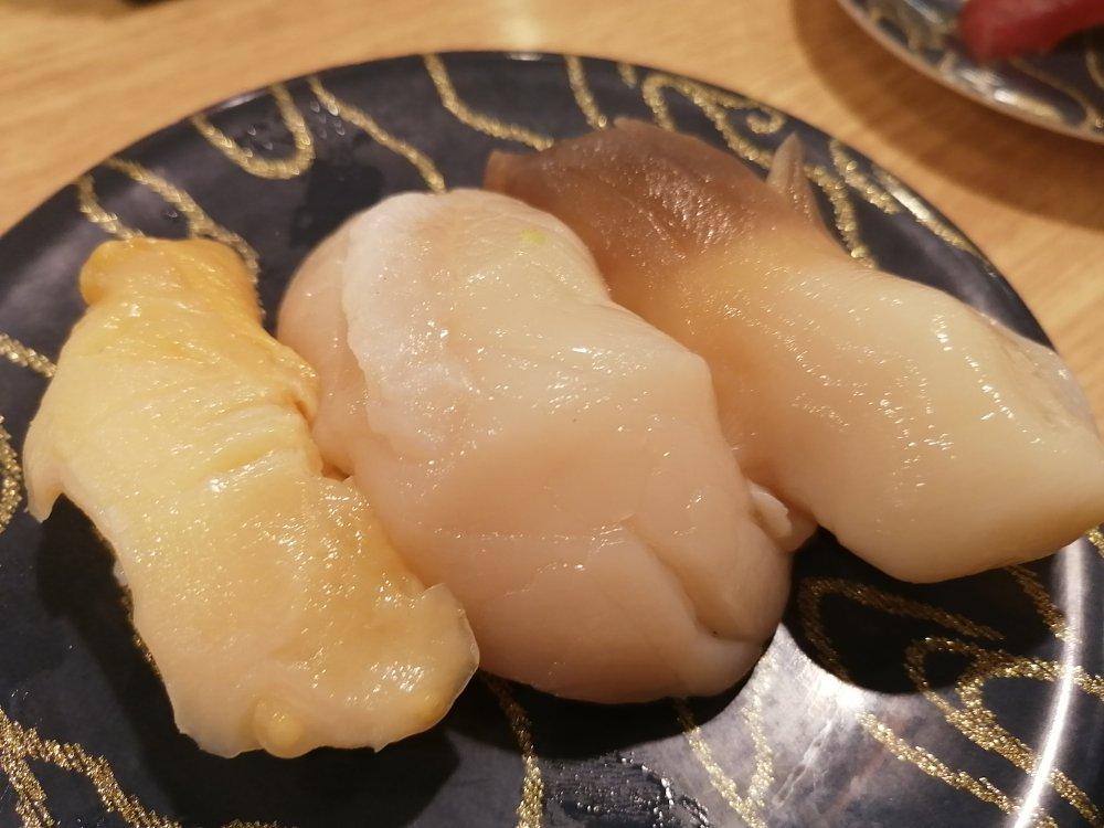 函館回転寿司 函太郎の貝三昧