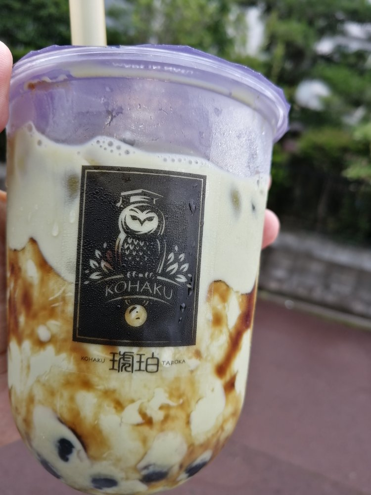 琥珀長町店の黒糖抹茶ミルク