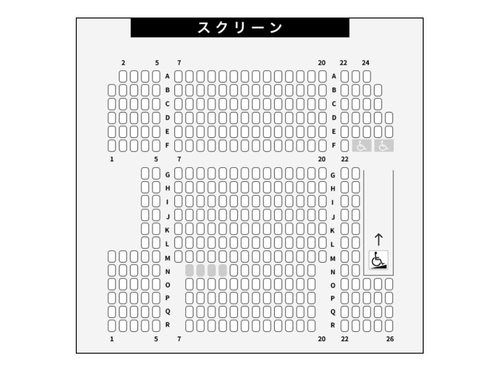 ムービックス仙台の座席表2