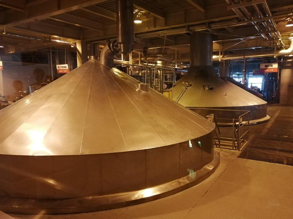 キリンビール仙台工場の内部
