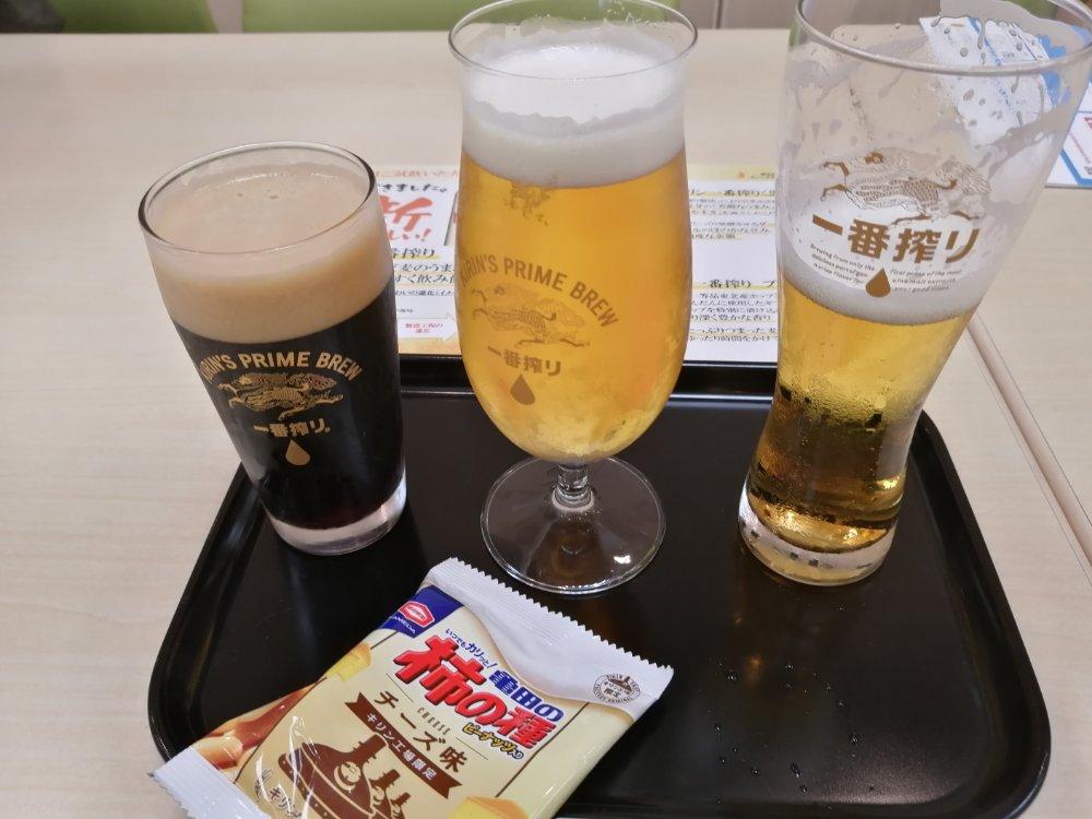 キリンビール仙台工場の試飲