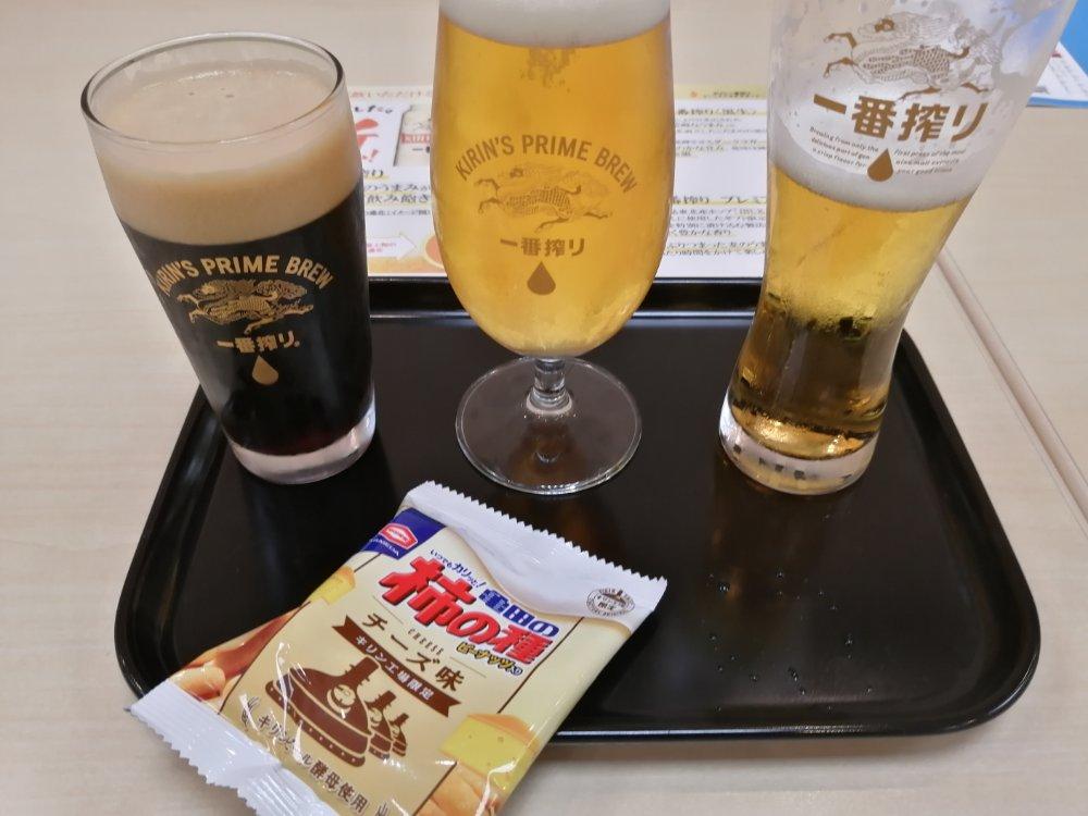 キリンビール仙台工場で試飲