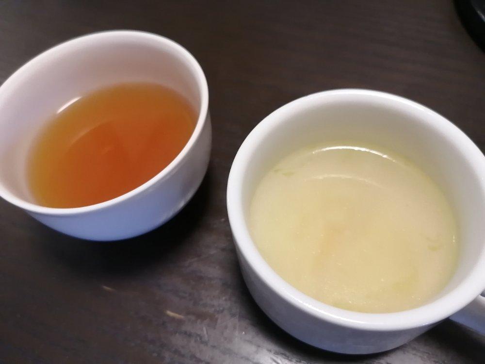 ウーロン茶とスープ
