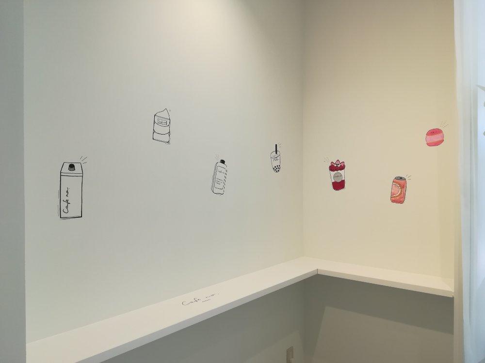カフェナンバー仙台店の壁面インスタスポット