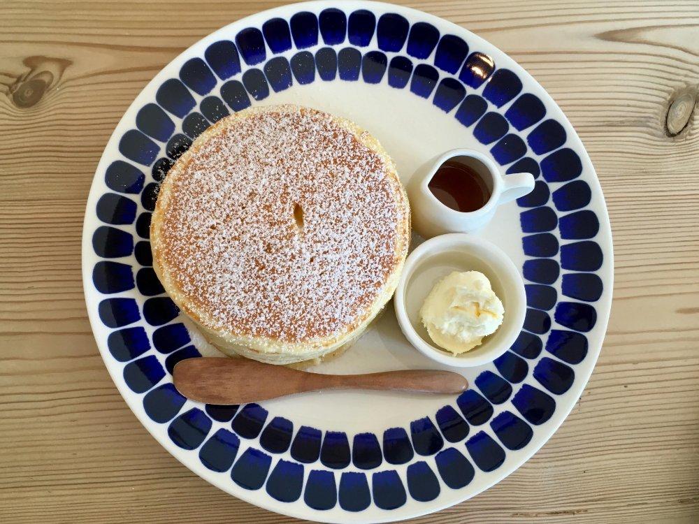 ハナミズキカフェのパンケーキ