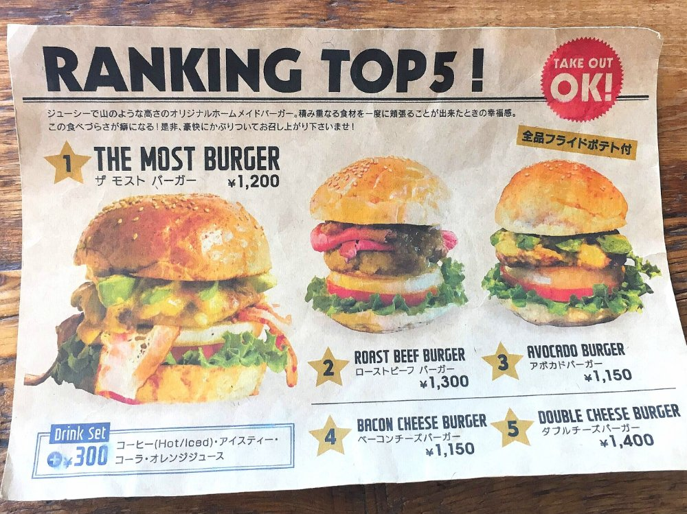 ザモストコーヒーのハンバーガーランキングトップ5