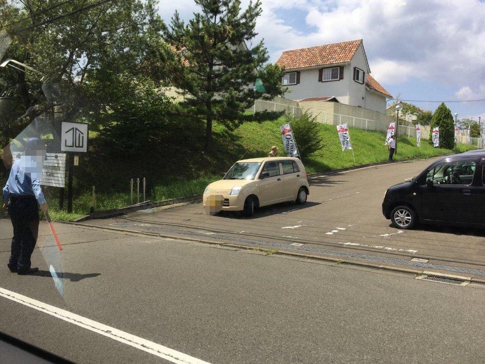 大沢マルシェの駐車場