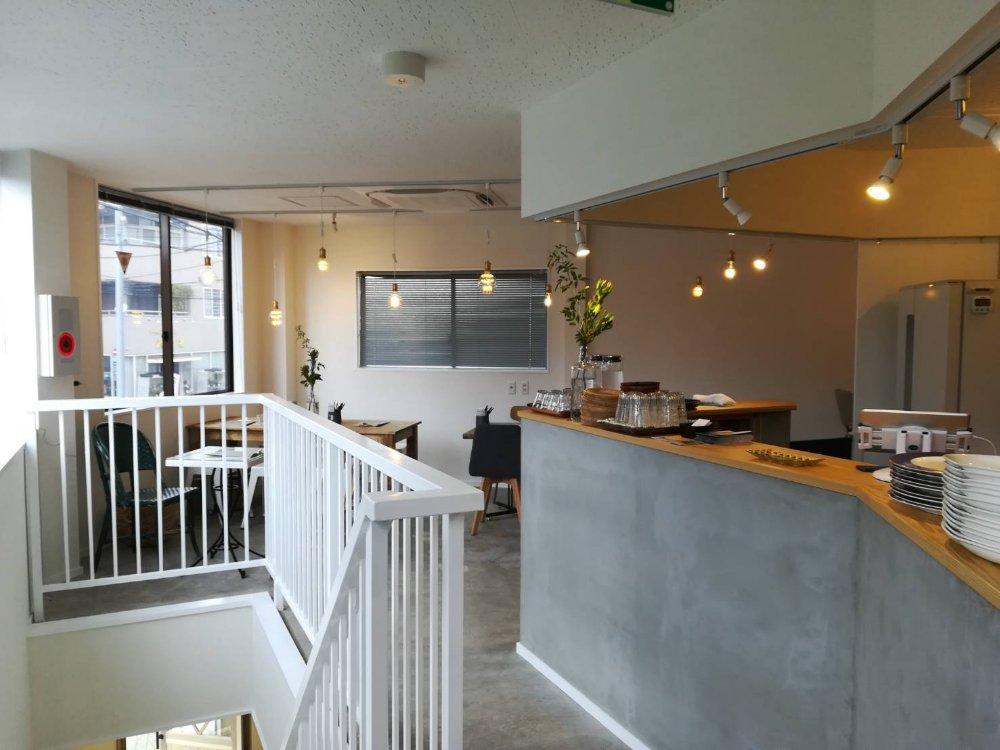 イマジネ2階のカフェ