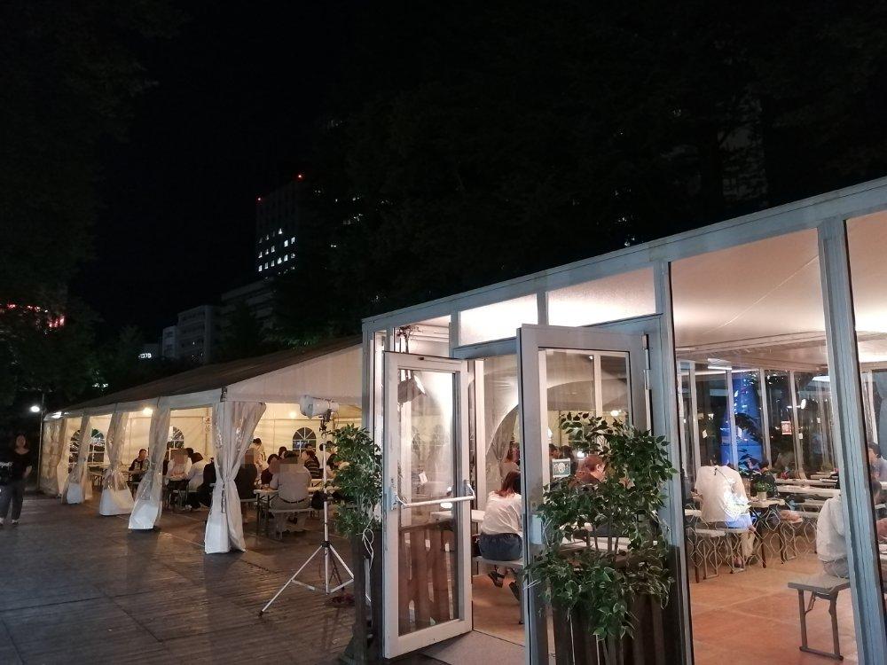 仙台オクトーバーフェストのグリーンテント