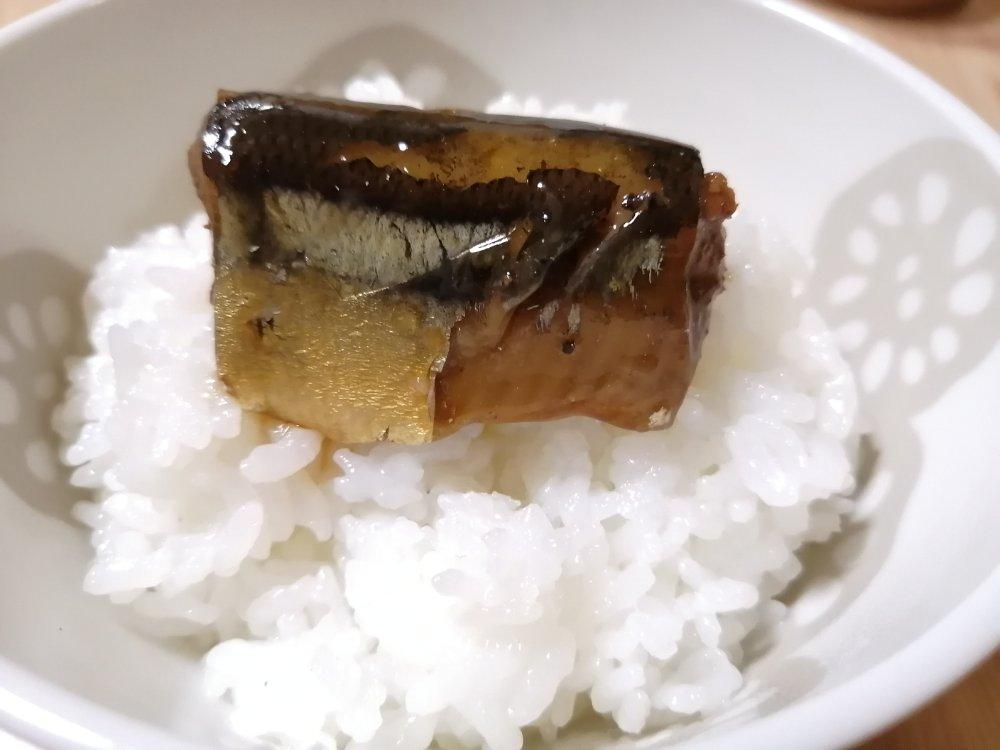 秋刀魚の甘露煮と白米